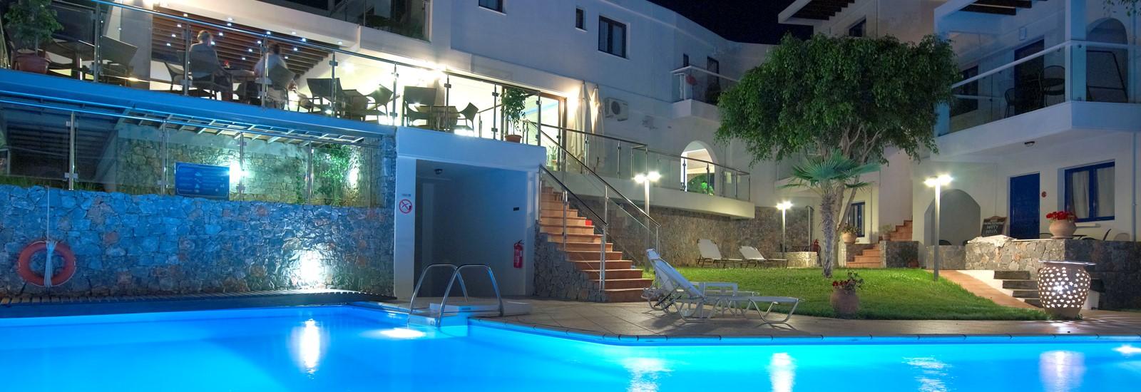 Minos village in chania crete hotels in agia marina for Designhotel kreta
